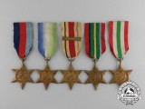 Five Second War Allied Campaign Stars