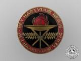 A c.1938 Dutch National-Socialist Women's Federation Enameled Badge