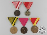 A Lot of Five Imperial Austrian Medals