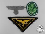 A Lot of Three German Second War Cloth Insignia