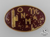 "An Italian  ""M"" Legion Omni Badge by E.Bertoni"