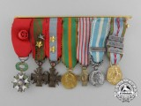 A First War French Miniature Group Medal Bar