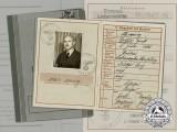 A Wehrpaß of Soldier Arthur Manig