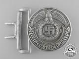 An SS (Schutzstaffel) Officer's Belt Buckle by Overhoff & Cie