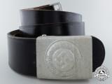 A Mint German Police EM Steel Buckle with Belt