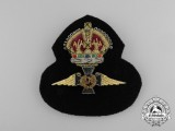 A Second War Royal Canadian Air Force (RCAF) Chaplain's Cap Badge