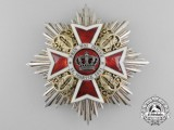 A Order of the Crown of Romania; Grand Cross Breast Star (1881-1932) by Joseph Resch