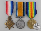 A First War Medal Group to the 2nd Infantry Battalion; Wounded at Second Battle of Ypres