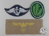 A Lot of Three Second War German Insignia