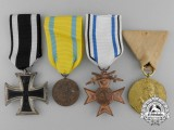 A Lot of Four Prussian Awards, Medals, and Decorations