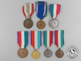 Seven Italian Medals and Awards