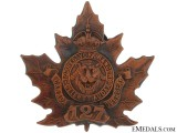 127th Battalion (York County) Cap Badge, CEF