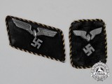 A Grouping of Two Different Styles of German Railway (Reichsbahn) Pay Official's Collar Tabs