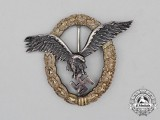 A Fine Early Quality Manufacture Luftwaffe Pilot's Badge by C. E. Juncker of Berlin; J-1 Type