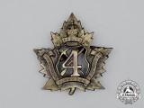 A First War CEF 4th Pioneer Battalion Cap Badge