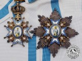 A Serbian Order of St. Sava; Grand Cross Set in Case