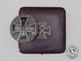 An Unusual Cased Iron Cross 1914 First Class; Silver Counter Plated Version