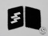 An Mint Early Set of SS-Mann Collar Tabs; Type 2 (1934-1940)