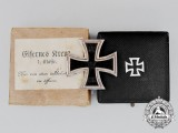 A Mint Iron Cross 1914 First Class by the Royal Mint in its Case of Issue and Presentation Box