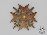 A Third Reich Period Gold Grade Spanish Cross with Swords by Steinhauer & Lück