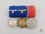 A Second War Wehrmacht Long Service & Austrian Anschluss Medal Bar Group