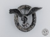 A Fine Early Quality Manufacture Luftwaffe Pilot's Badge by C. E Juncker of Berlin
