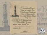 A German Imperial Naval Corps Flanders Cross Document to Hermann Teichmann