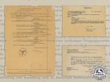 A Document Group to Luftwaffe Hauptmann Dr. Eugen Kahn; Bulgarian Pilot Badge