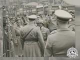 An Official Wartime Press Photo of SS-Obergruppenführer Sepp Dietrich and LSSAH in Prague