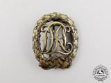 A Third Reich Period Bronze Grade DRL Sports Badge by Wernstein of Jena