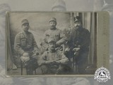 A Period Studio Photo of Four Imperial Austro-Hungarian Soldiers