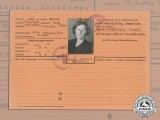 A Wartime Filecard for Customs ID for German-Lithuanian Border
