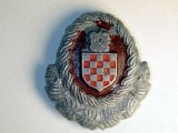 OFFICERS CAP BADGE, CROATIAN ARMED FORCES