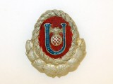 Ustasha Officer's Cap Badge,