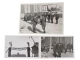 Three photographs taken during