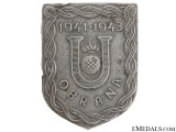 "Croatian ""Obrana"" (Defence) Badge"