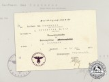 A 1936 Black Grade Wound Badge Authorization Document