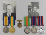 A Canadian First & Second War Sadler Father and Son Group
