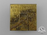 A 1933 Eisfeld Kreiskongress Brauner Tag (Jewish Boycotting) Badge