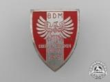 A Fine Quality 1937 Bund Deutscher Mädel Obergau Franken Sport Day Badge by Christian Lauer