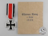 An Iron Cross 1939 Second Class with Original Packet of Issue by Josef Feix & Söhne
