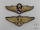 Two Royal Thai Air Force Badges