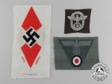 Three Third Reich Cloth Insignia