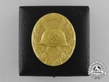 An Absolutely Mint Second War Gold Grade Wound Badge in Original LDO Case