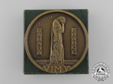 A Canadian Vimy Pilgrimage Souvenir Medal with Box