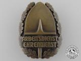 An Austrian Volunteer Labour Force Honor Badge by E. Seegebrecht