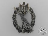 A Fine Quality Manufacture Bronze Grade Infantry Assault Badge by Ferdinand Wiedmann