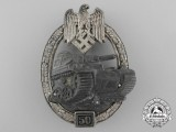 A Silver Grade Tank Badge; Special Grade 50 by C.E. Juncker