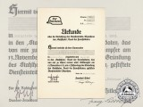 A 1921 Der Stahlhelm Badge Award Document