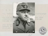 A Large Photograph of the head of the Reichsarbeitsdienst Konstantin Hierl